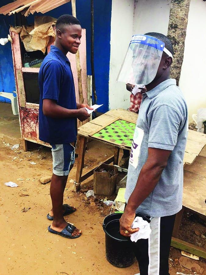 Sharing the gospel in Liberia