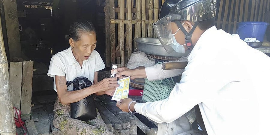 Sharing care packages in Myanmar