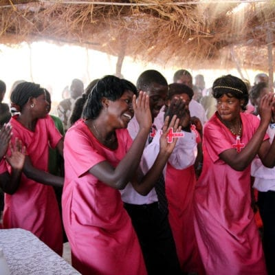 Worshipping in Zambia