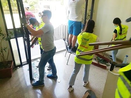 Repairing homes in Lebanon