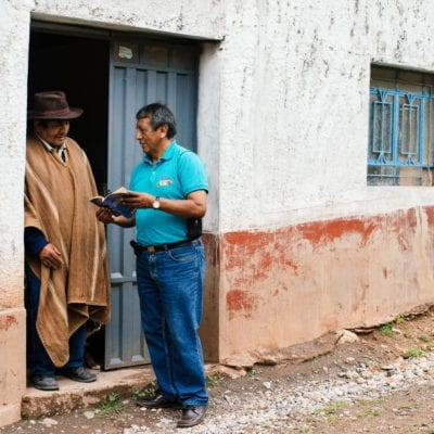 Sharing the gospel in Peru