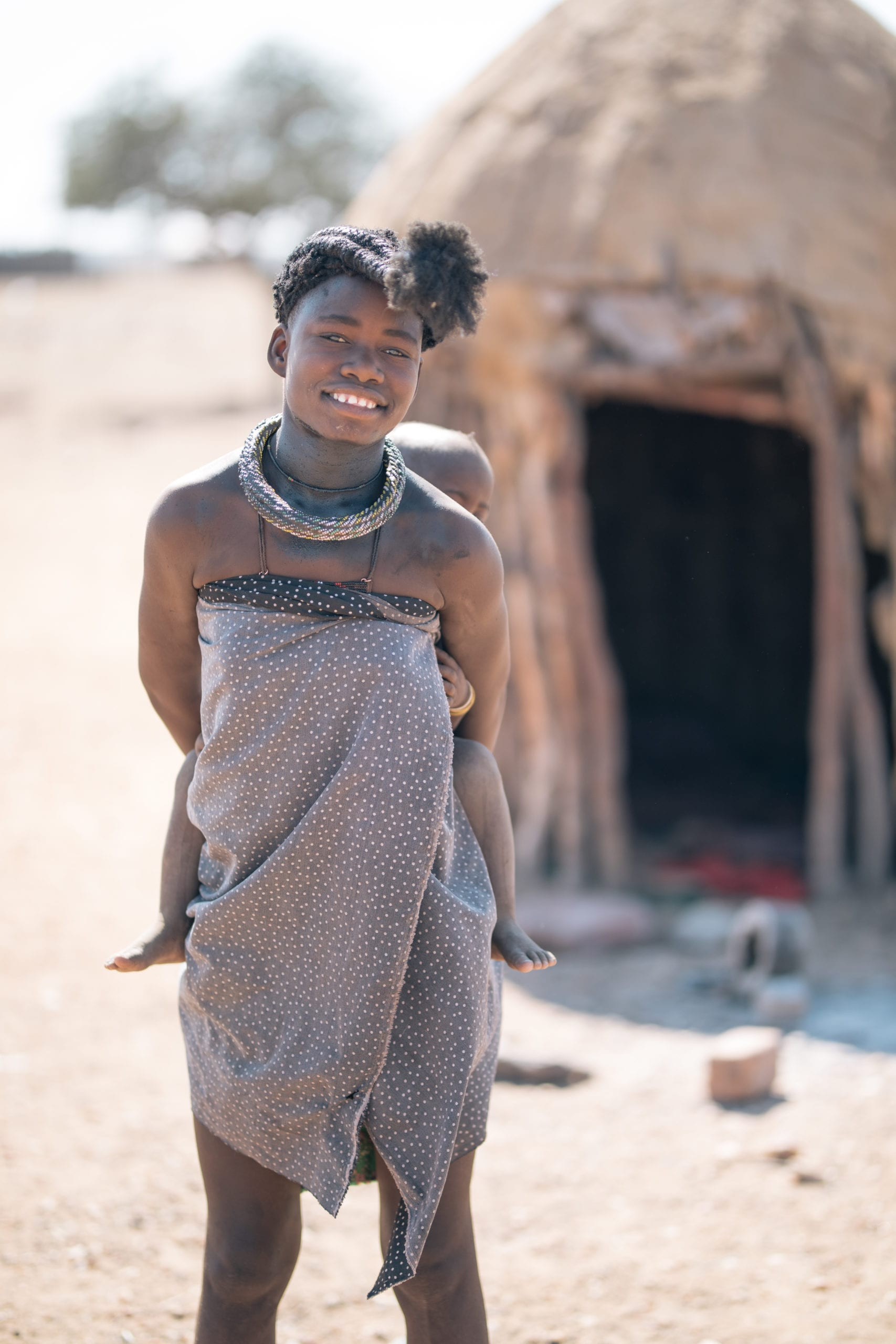 Young christian woman in Namibia