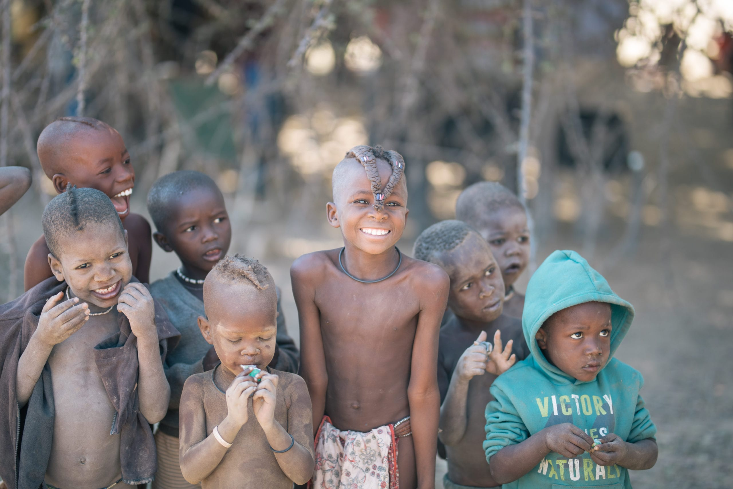 Young children in Namibia