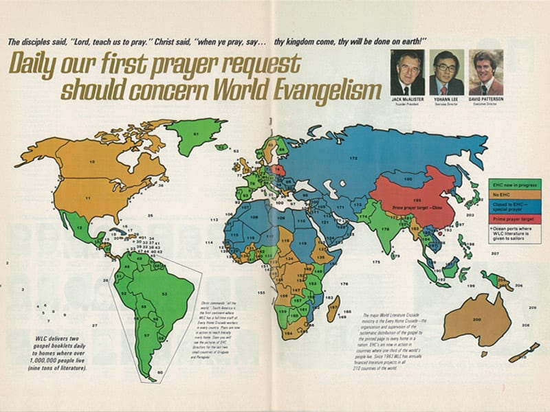 World Prayer Map