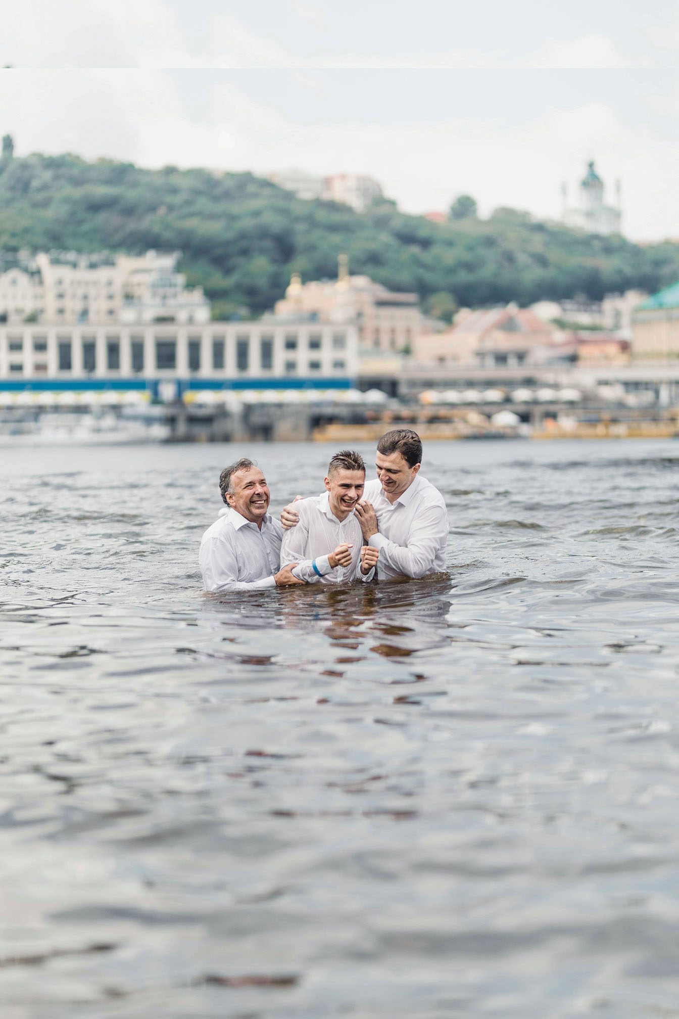 Man baptized in Ukraine