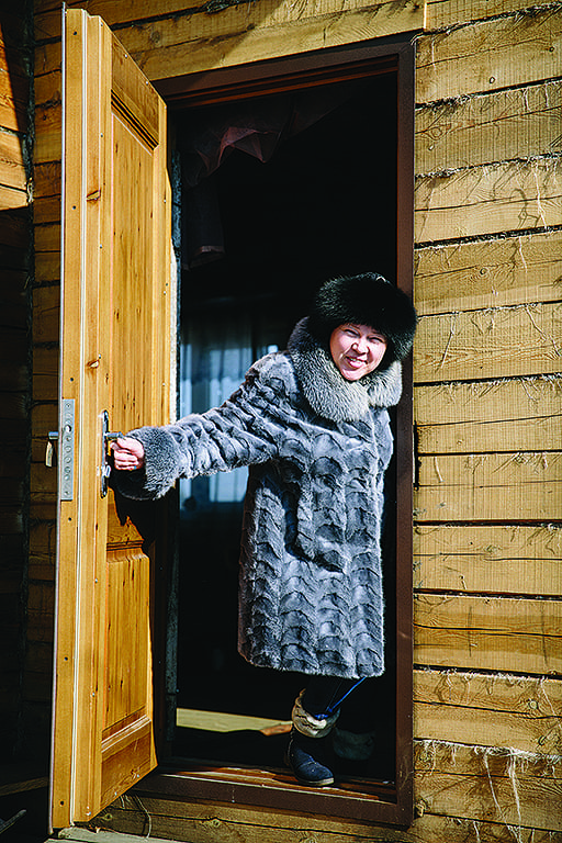 Christian woman in Siberia