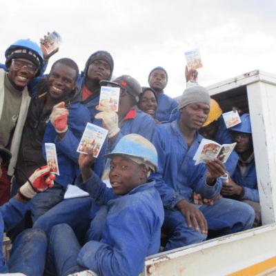 Workers in South Africa receiving the gospel