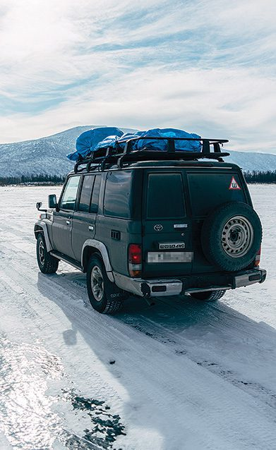 Missionary vehicle in Siberia