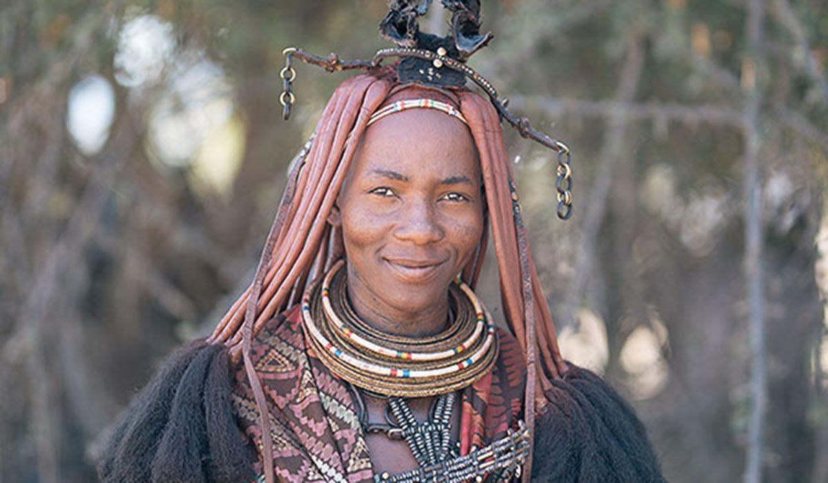 Portrait of woman in Namibia
