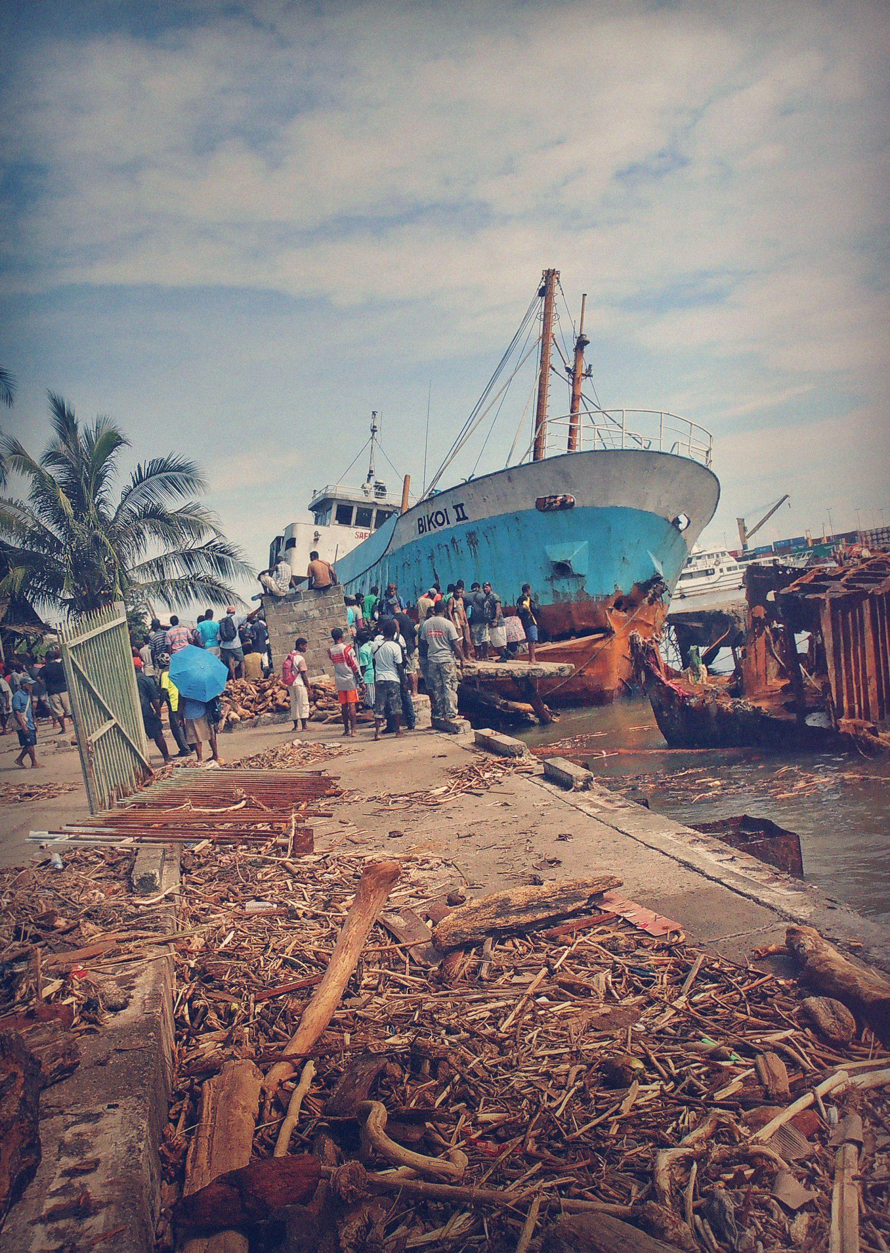 Ship in Solomon Islands