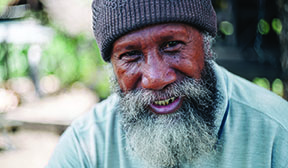 Older generation male smiling