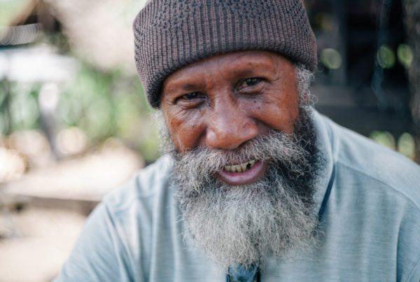 Older generation smiling man